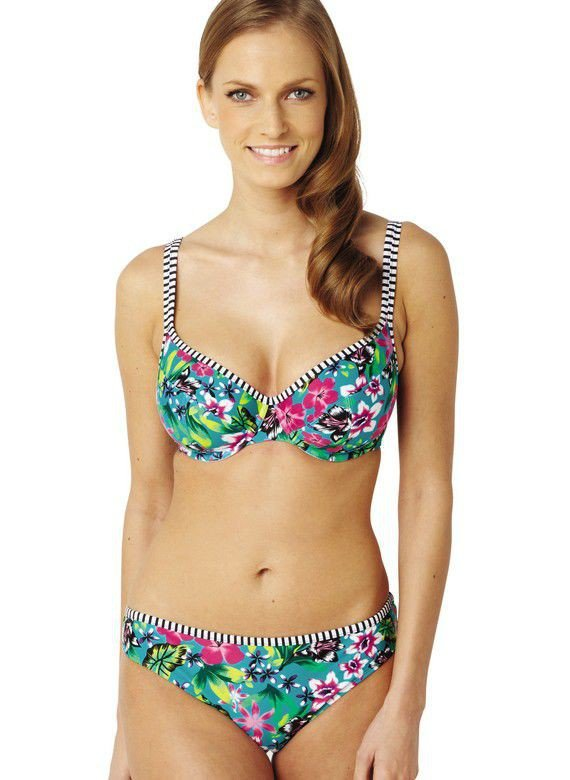 d418eb3658c69a Na plażę   Figi Panache ELLE SW0876 Classic Pant Tropical Print